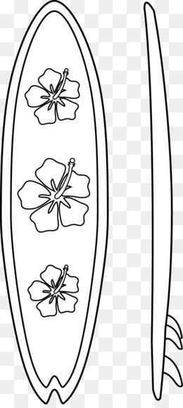 Planche De Surf, Livre De Coloriage, Surf PNG - Planche De ...